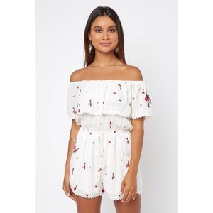 Lost + wander seniorita off shoulder romper